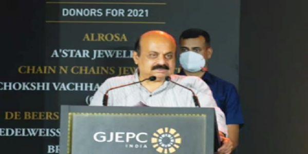 ಇಂಡಿಯಾ ಇಂಟರ್ ನ್ಯಾಷನಲ್ ಜ್ಯುವೆಲ್ಲರಿ ಪ್ರಿಮಿಯರ್ ಶೋ -2021ಕ್ಕೆ ಸಿಎಂ ಬೊಮ್ಮಾಯಿ ಚಾಲನೆ